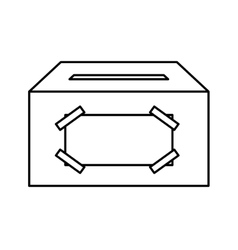 ballot box carton isolated icon vector image