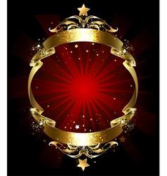 Everlasting Gold Ribbon vector image vector image