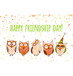 happy friends enjoying friendship day vector image vector image