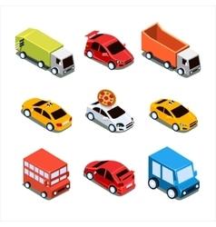 Isometric City Transport Set vector image