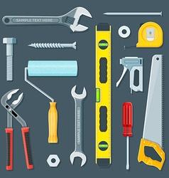 remodel construction tools set vector image vector image