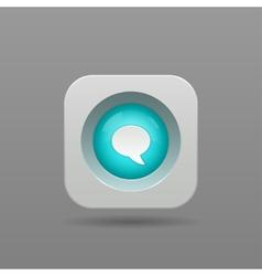 Speech bubble button vector image