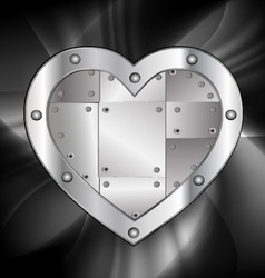 large metal heart vector image