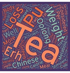 Pu erh and oolong teas for weight loss your 1 key vector