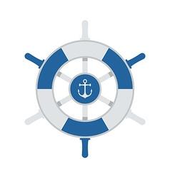 Ship Wheel Icon vector image