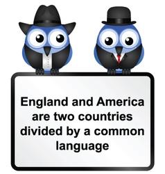 SIGN UK USA vector image vector image