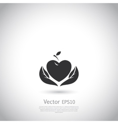 sign with red fruit Logo for Cosmetics vector image vector image