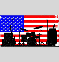 usa rock band vector image vector image