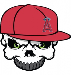 angels skull vector image vector image