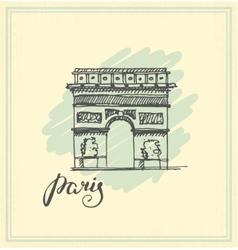 Arc de Triomphe Paris vector image