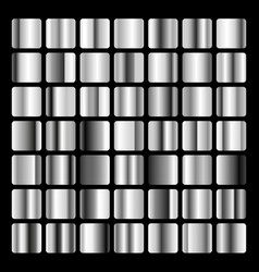 collection metallic and silver gradient vector image
