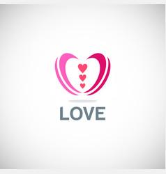 love valentine logo vector image vector image