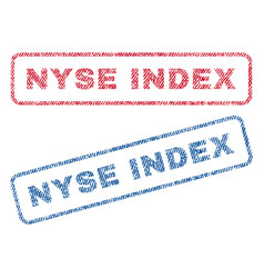 nyse index textile stamps vector image