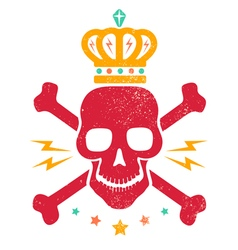 skull blood red vector image vector image