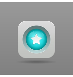 Star button vector image vector image