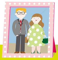 A close knit family vector