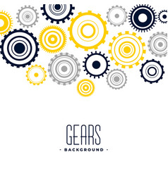 Abstract black and yellow gears background design vector