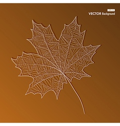 abstract hand drawn leaf autumn background eps10 f vector image