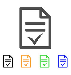 Agreement document flat icon vector