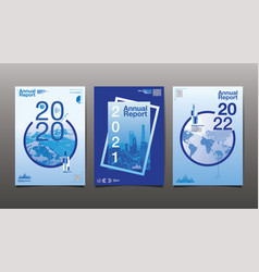 annual report 202020212022 blue color vector image