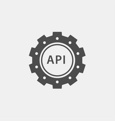 Api icon for graphic and web vector