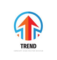 Arrows business logo template design strategy vector