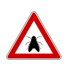 attention sign with fly vector image