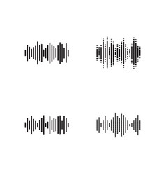 Audio wave logo design template vector