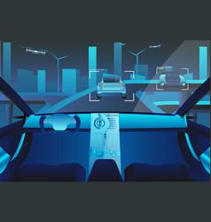 autonomous self driving car vector image