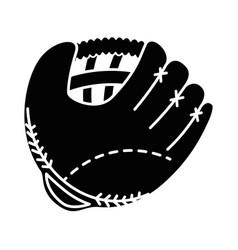 Baseball glove isolated icon vector