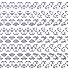 beautiful minimalism seamless diamond pattern vector image