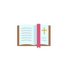 bible book flat icon vector image