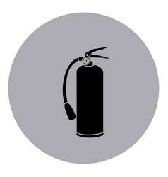 blue emblem sticker extinguisher icon vector image