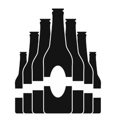 Bottles set black icon vector image