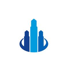 building real estate logo icon design vector image