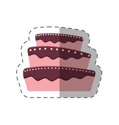 cake dessert baked shadow vector image