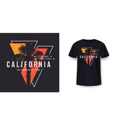california los angeles t-shirt design t shirt vector image