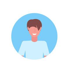 Casual man face avatar happy guy faceless male vector