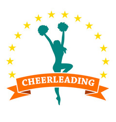 cheerleading vector image