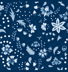 chintz fabric vector image