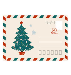 christmas greeting card cartoon postcard for vector image