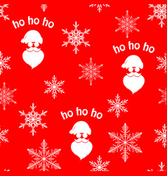 christmas seamless pattern with white santa claus vector image