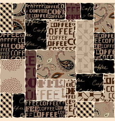 coffee abstract coffee beans on brown background vector image