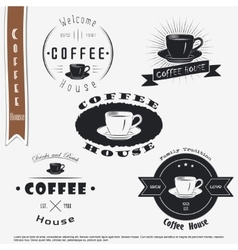 Coffee house The food and service Set of vector image