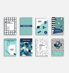 collection artistic contemporary covers vector image