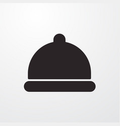 Concierge bell sign icon flat design styl vector