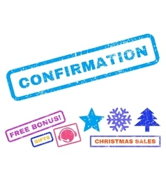 Confirmation Rubber Stamp vector