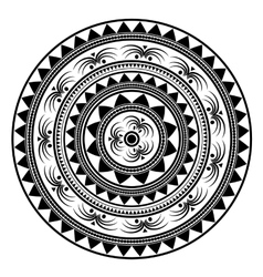 Contour Mandala Ethnic Amulet vector