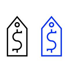 Dollar tag icon vector