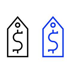 dollar tag icon vector image